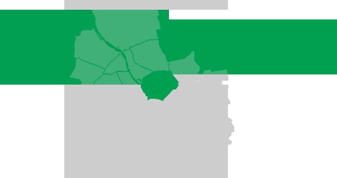 mapa z Pagą Południe